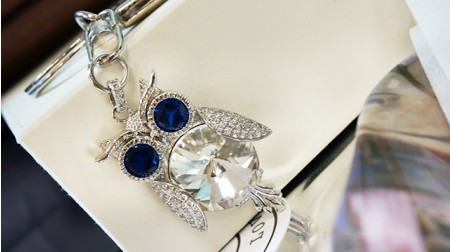 《SS2S》貓頭鷹鑰匙圈(銀藍款)