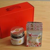 《食在加分》手工柴燒黑糖禮盒 台灣老薑玻璃罐裝280g+台灣老薑隨身包20gx5